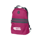 Pink Raspberry Nailhead Backpack-PhilaU Rams