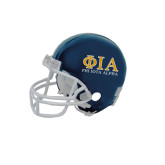 Riddell Replica Navy Mini Helmet-Greek Letters Stacked
