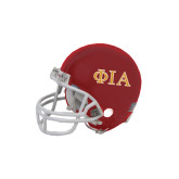 Riddell Replica Red Mini Helmet-Official Greek Letters Two Color