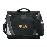 Slope Black/Grey Compu Messenger Bag-Official Greek Letters Two Color