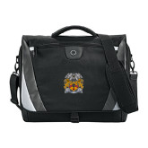 Slope Black/Grey Compu Messenger Bag-Crest