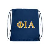 Navy Drawstring Backpack-Official Greek Letters Two Color