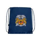 Navy Drawstring Backpack-Crest