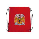 Red Drawstring Backpack-Crest