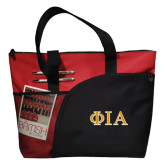 Excel Red Sport Utility Tote-Official Greek Letters Two Color