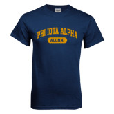 Navy T Shirt-Alumni Arched