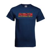 Navy T Shirt-Phiota Polygon Reflection