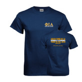 Navy T Shirt-Greek Letters Stacked