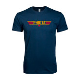Next Level SoftStyle Navy T Shirt-Top Gun Style