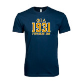 Next Level SoftStyle Navy T Shirt-Founder Day Jersey Style