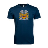 Next Level SoftStyle Navy T Shirt-Crest