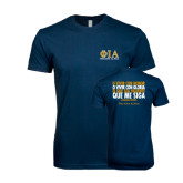 Next Level SoftStyle Navy T Shirt-Greek Letters Stacked