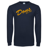 Navy Long Sleeve T Shirt-Dons Est 1931