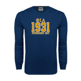 Navy Long Sleeve T Shirt-Founder Day Jersey Style