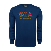 Navy Long Sleeve T Shirt-Chapter Name