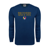 Navy Long Sleeve T Shirt-Brothers Since 1931