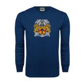 Navy Long Sleeve T Shirt-Crest