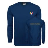 Navy Long Sleeve T Shirt-Shield