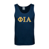 Navy Tank Top-Official Greek Letters Two Color