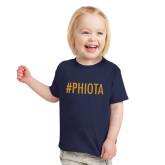 Toddler Navy T Shirt-Hashtag PHIOTA
