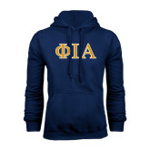 Navy Fleece Hoodie-Official Greek Letters Two Color