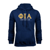 Navy Fleece Hoodie-Chapter Name