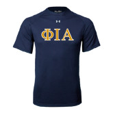 Under Armour Navy Tech Tee-Official Greek Letters Two Color