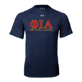 Under Armour Navy Tech Tee-Greek Letters Stacked