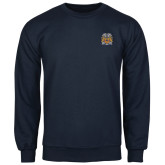 Navy Fleece Crew-Crest