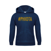 Youth Navy Fleece Hoodie-Hashtag PHIOTA