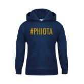 Youth Navy Fleece Hoodie-Hashtag PHIOTA