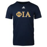 Adidas Navy Logo T Shirt-Official Greek Letters Two Color