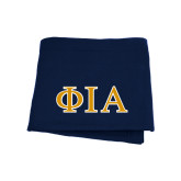 Navy Sweatshirt Blanket-Official Greek Letters Two Color