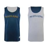 Navy/White Reversible Tank-Phi Iota Alpha