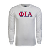 White Long Sleeve T Shirt-Official Greek Letters Two Color