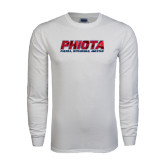 White Long Sleeve T Shirt-Phiota Polygon Reflection