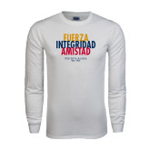 White Long Sleeve T Shirt-Fuerza Stacked