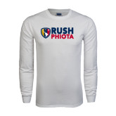 White Long Sleeve T Shirt-Rush Phiota