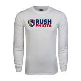 White Long Sleeve T Shirt-Rush Phiota