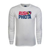 White Long Sleeve T Shirt-Rush stacked with Badge