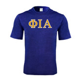 Performance Royal Heather Contender Tee-Official Greek Letters Two Color