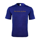 Performance Royal Heather Contender Tee-Wordmark Flat