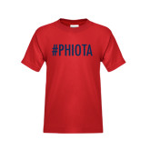 Youth Red T Shirt-Hashtag PHIOTA