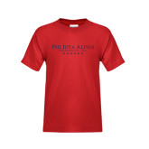 Youth Red T Shirt-PHI Stars