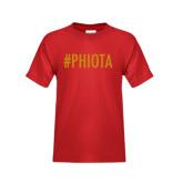 Youth Red T Shirt-Hashtag PHIOTA