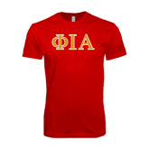 Next Level SoftStyle Red T Shirt-Official Greek Letters Two Color