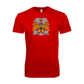 Next Level SoftStyle Red T Shirt-Crest