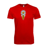 Next Level SoftStyle Red T Shirt-Badge