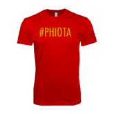 Next Level SoftStyle Red T Shirt-Hashtag PHIOTA