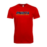 Next Level SoftStyle Red T Shirt-Phiota Polygon Reflection